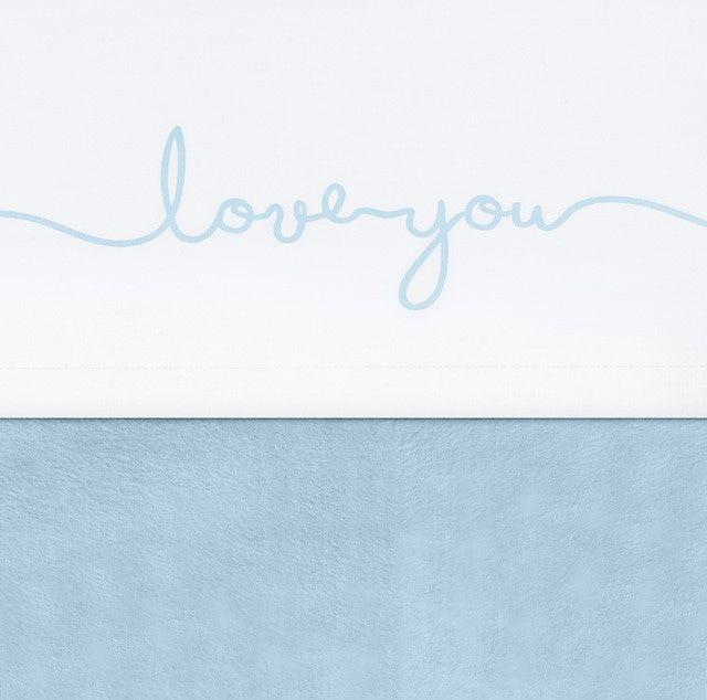 Laken Wieg Jollein Love You Soft Blue