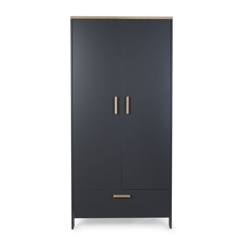 Kast Childhome Paris Dark Oak-Anthra 2-deurs