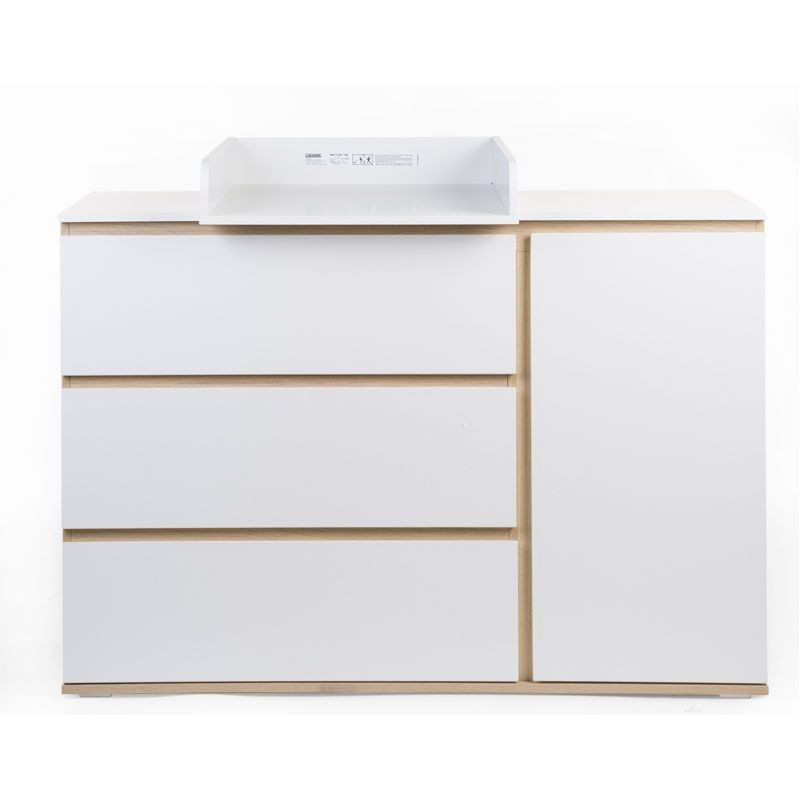 Commode Childhome Palma White Oak