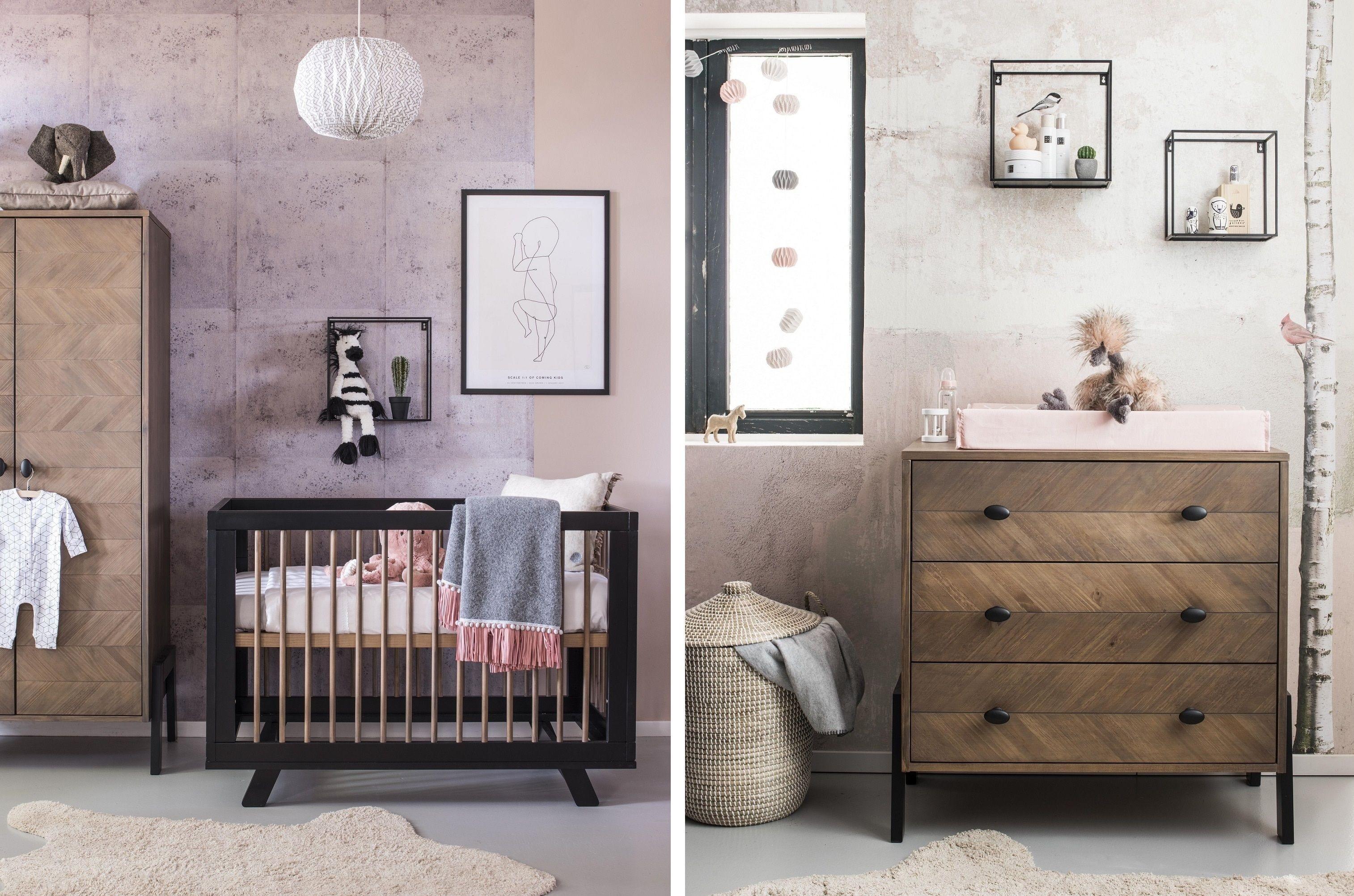 Babykamer Ledikant + Commode Coming Kids Harper