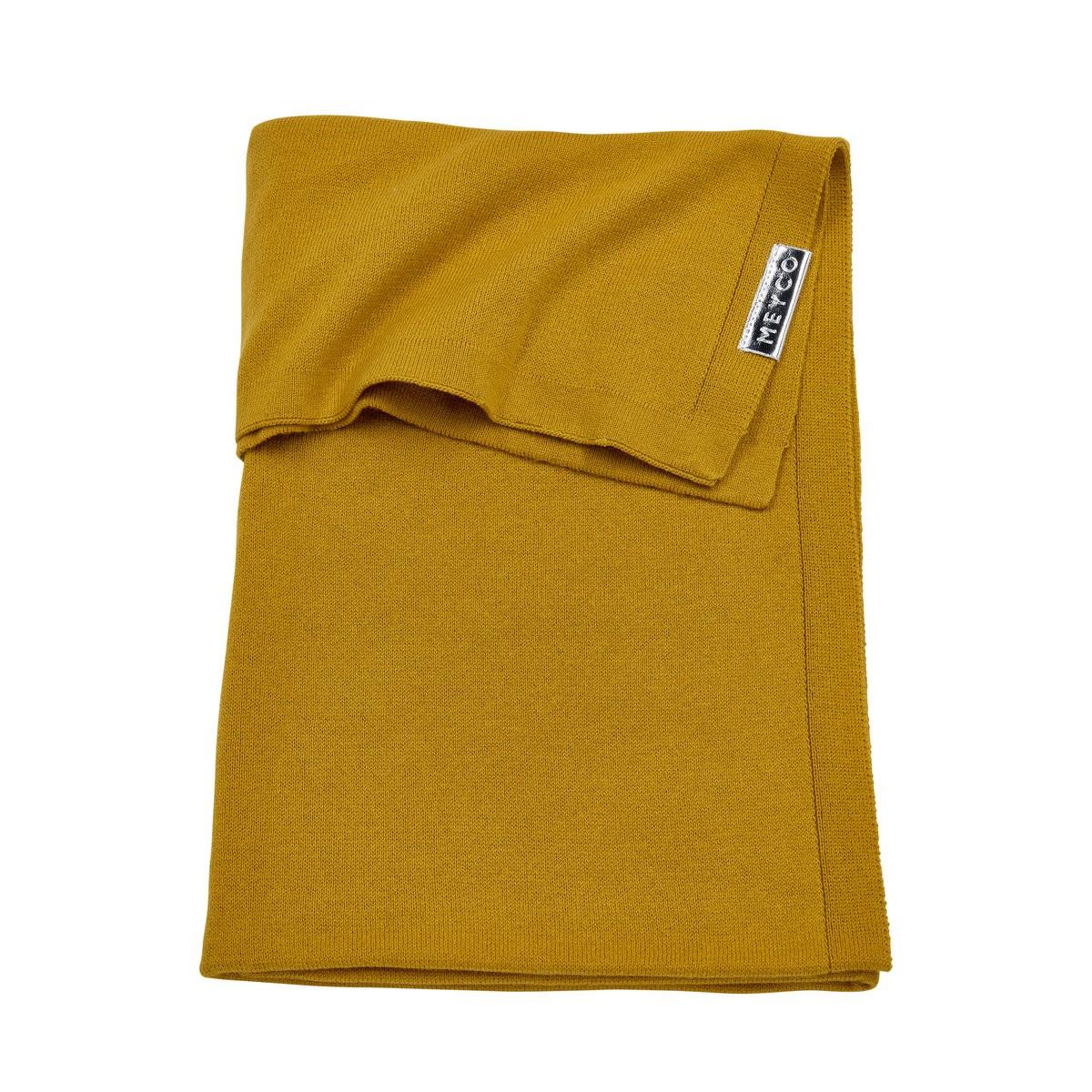 Image of Deken Wieg Meyco Knit Basic Okergeel 33563