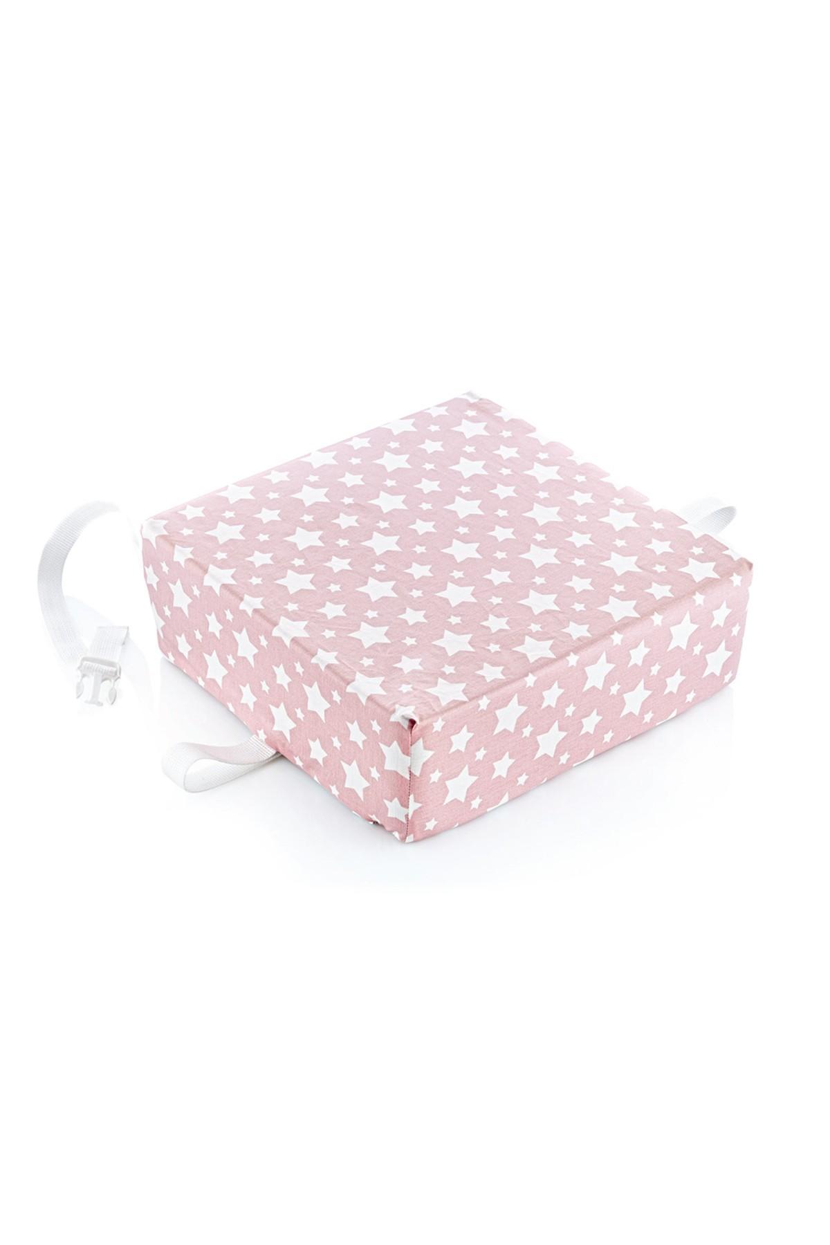 Image of BabyJem Booster Stoelverhoger EasyClean Pink Star 35277