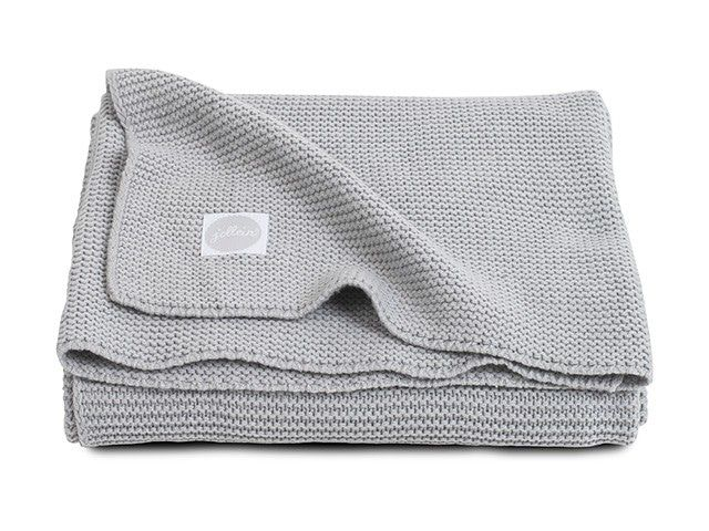 Deken Wieg Jollein Basic Knit Light Grey