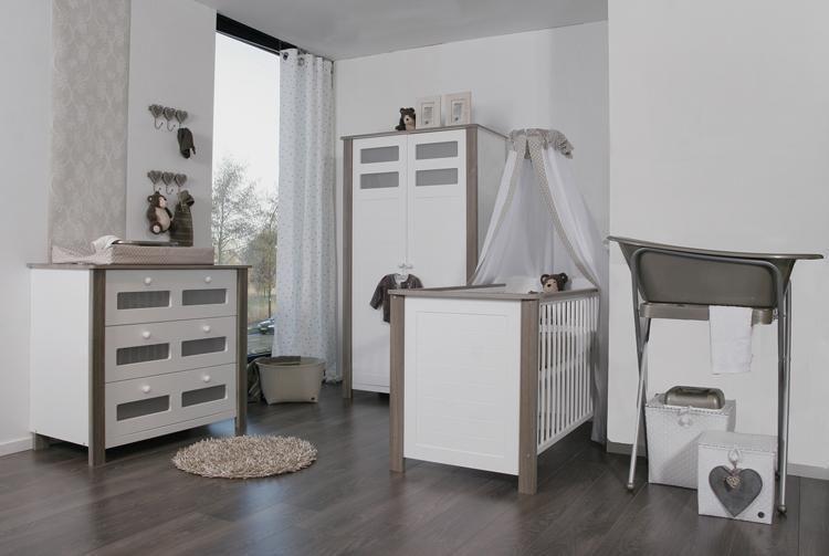 Babykamer Claudia (2-deurs kast) wit