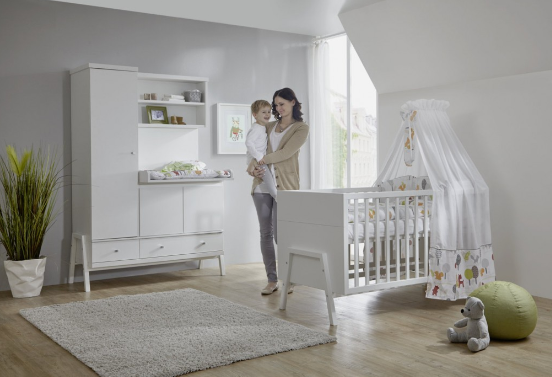 Babykamer Hollywood Commode-Kast Wit