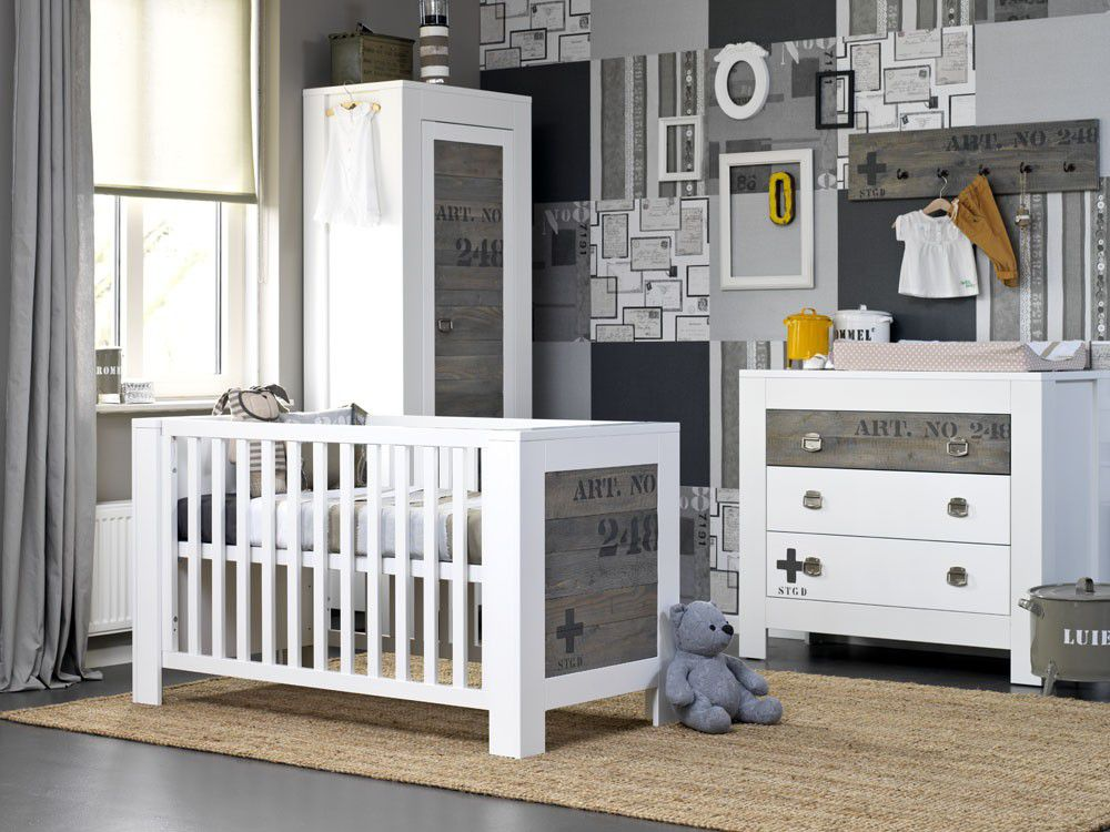 Babykamer Coming Kids Urban Ledikant & Commode