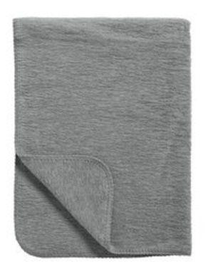 Meyco Katoenen deken uni antraciet 75x100 cm
