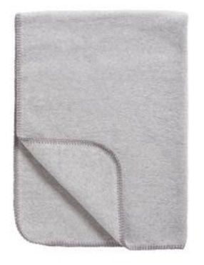 Meyco Katoenen deken uni grijs melange 75x100 cm