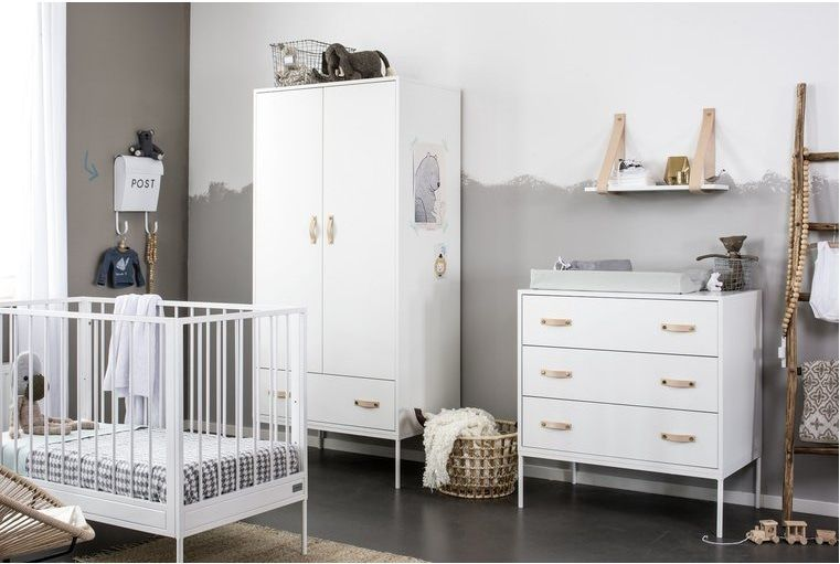 Babykamer Coming Kids Bliss White Ledikant + Commode