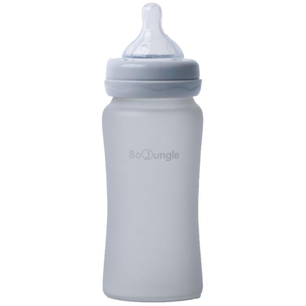 Image of Bo Jungle Fles B-Thermo Silicone Glass 300ml Grey 31303