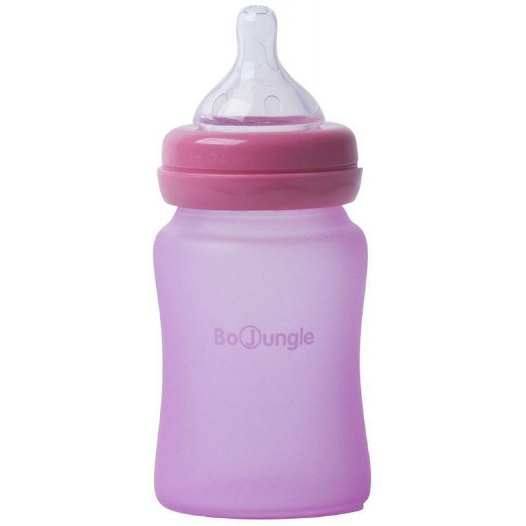 Image of Bo Jungle Fles B-Thermo Silicone Glass 150ml Pink 31296