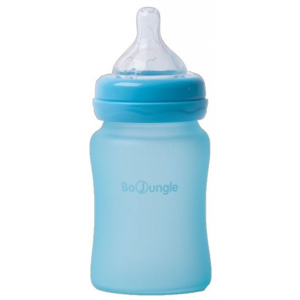 Image of Bo Jungle Fles B-Thermo Silicone Glass 150ml Turquoise 31295