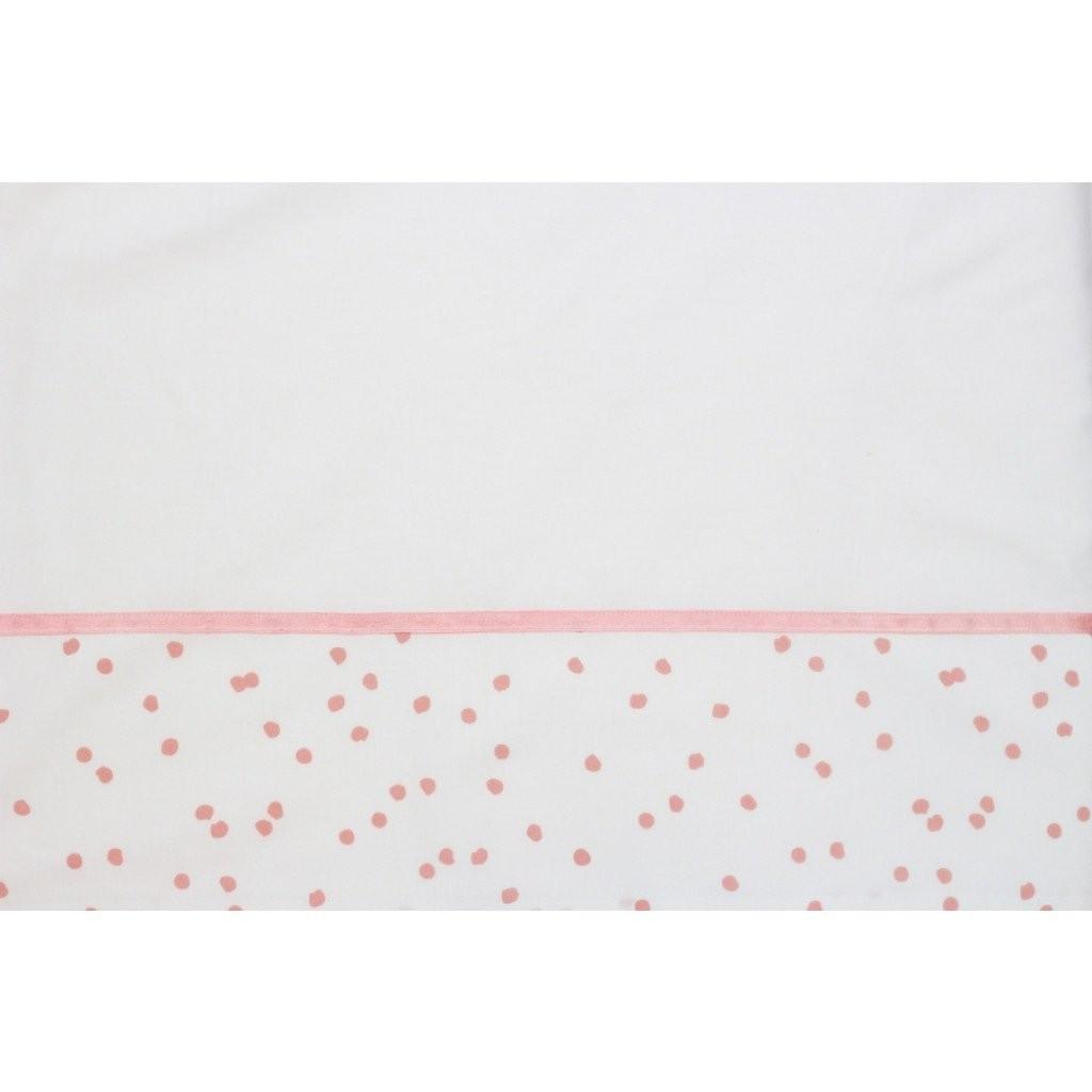 Laken wieg 75x100 Spots Grey Pink