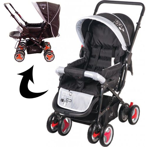 Kinderwagen Johnson Snopy Black-Grey