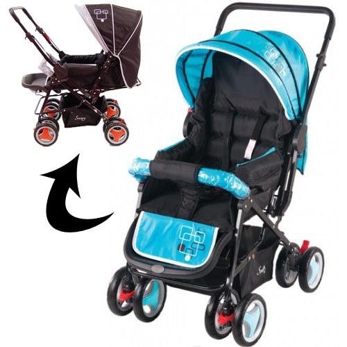 Kinderwagen Johnson Snopy Black-Blue