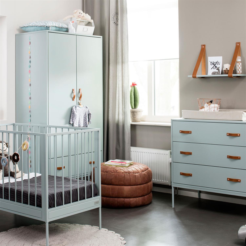 Babykamer Coming Kids Bliss Sea Green Ledikant + Commode