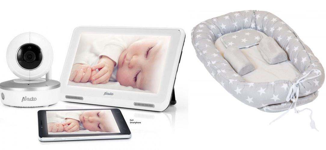Image of Babyfoon met camera Alecto DIVM-770 + Gratis babynestje tvw €59.99 32739