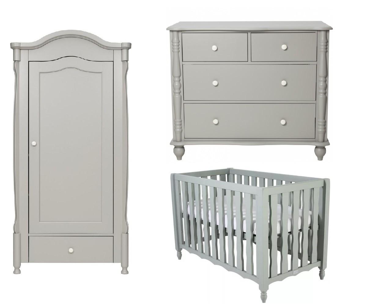 Babykamer Coming Kids Pebbles Grey + Ledikant Seagreen