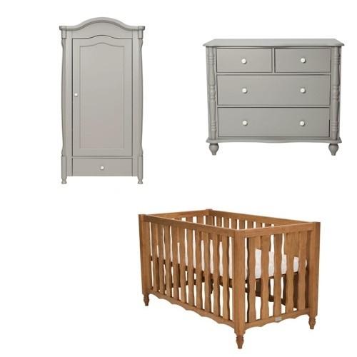 Babykamer Coming Kids Pebbles Grey + Ledikant Grenen