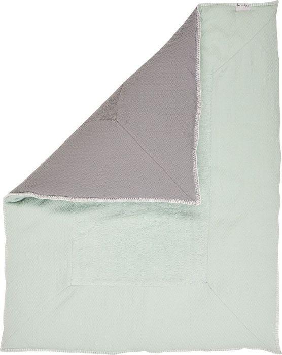 Koeka Stockholm Boxkleed Misty Mint-Steel Grey 80 x 100 cm
