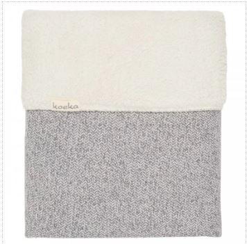 Koeka   Deken Ledikant Vigo Flanel 1069-0004 Sparkle Grey-Pebble