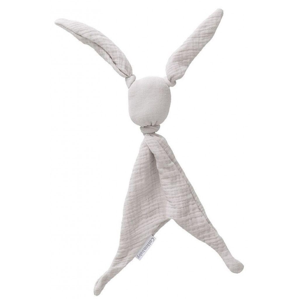 Image of Cottonbaby - Knuffelkonijn Tuttle Cottonsoft Lichtgrijs 28847