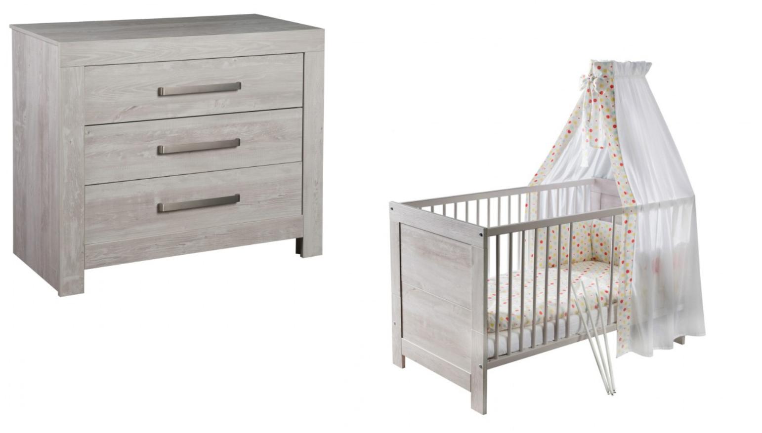 Ledikant Plus Commode.Aanbieding Colorfull Home Babykamer Classy Grey Ledikant Commode