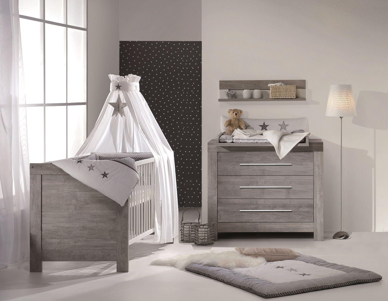 Babykamer Nordic Driftwood Ledikant + Commode