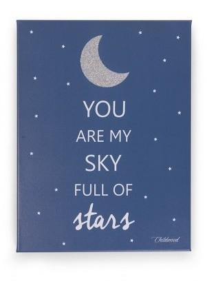 Schilderij Childhome Sky Full of Stars 40 x 30cm