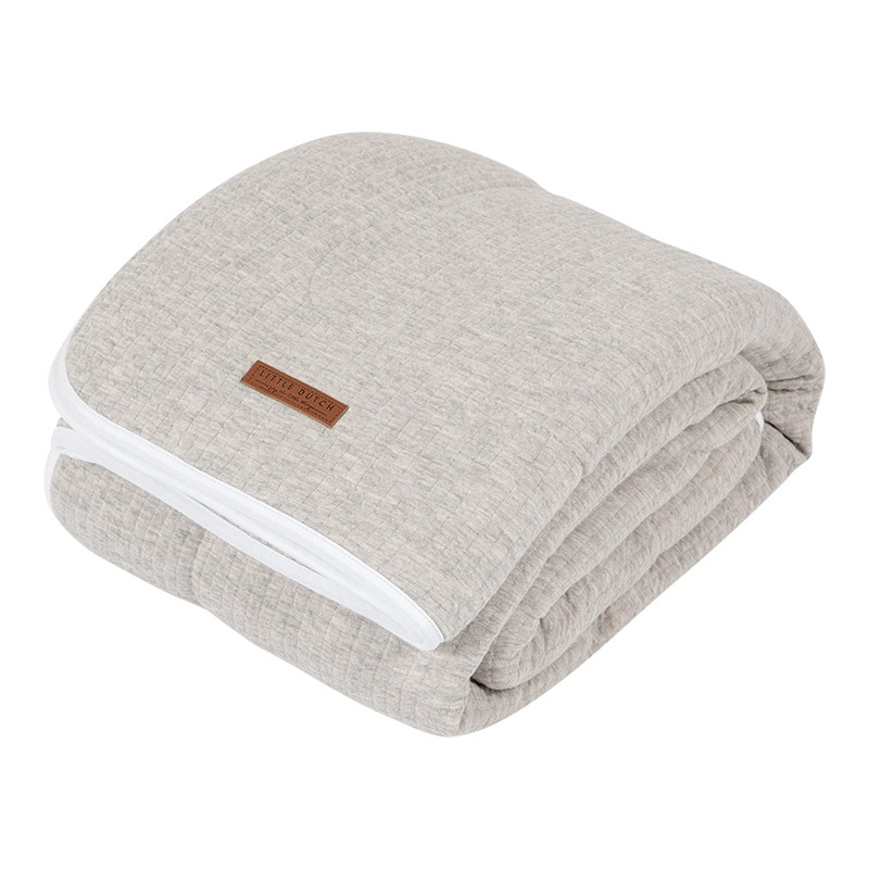Deken Wieg Little Dutch Pure & Soft Pure Grey
