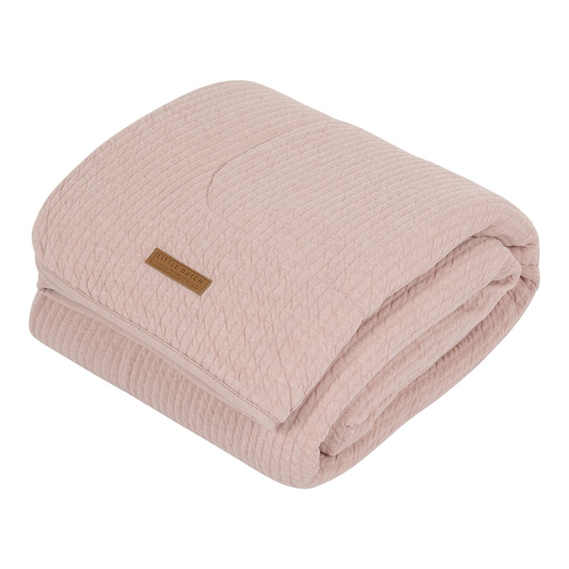 Deken Wieg Little Dutch Pure & Soft Pure Pink