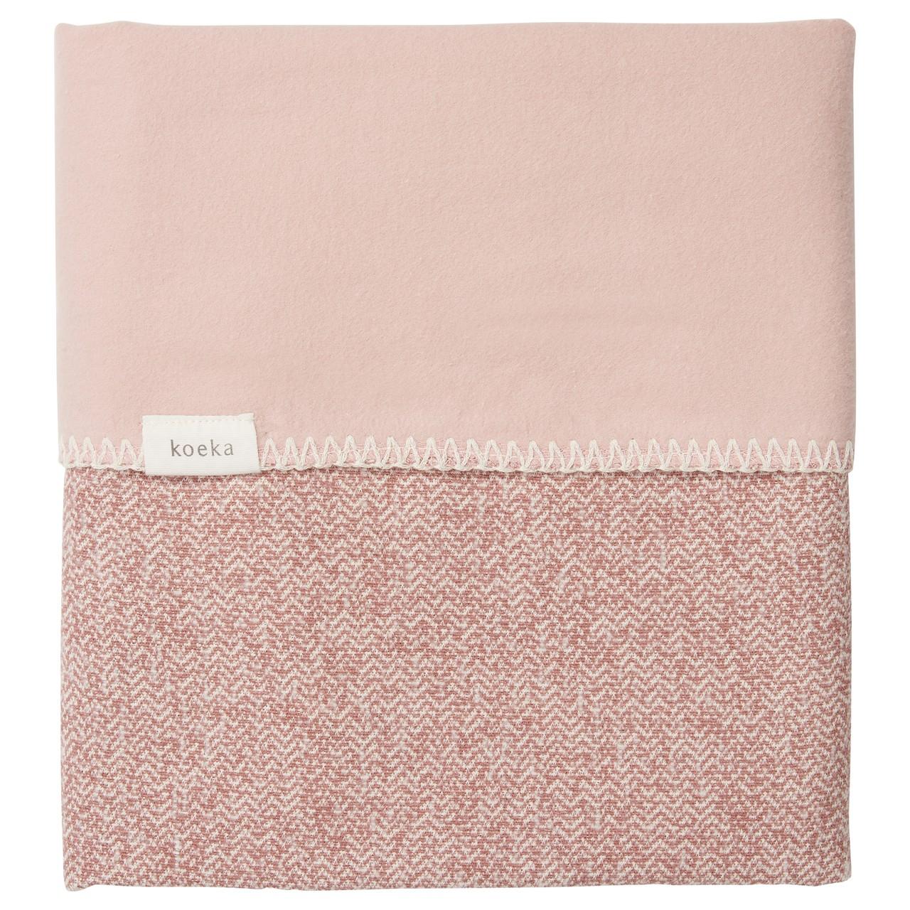 Koeka   Deken Ledikant Vigo Flanel 1069-0004 Old Pink-Shadow Pink