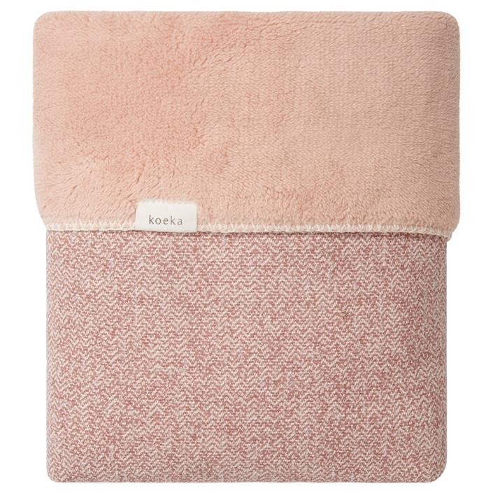 Koeka | Deken Wieg Vigo Teddy 1069 0001 Old Pink Shadow Pink
